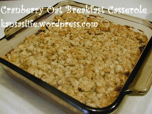 Cranberry Oat Breakfast Casserole