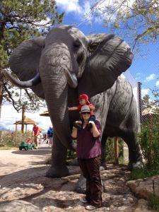 A life-sized and realistic elephant statue is a great way for kids to get an up-close look at the big animals.